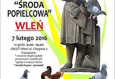 Plakat targi gołębi we Wleniu.