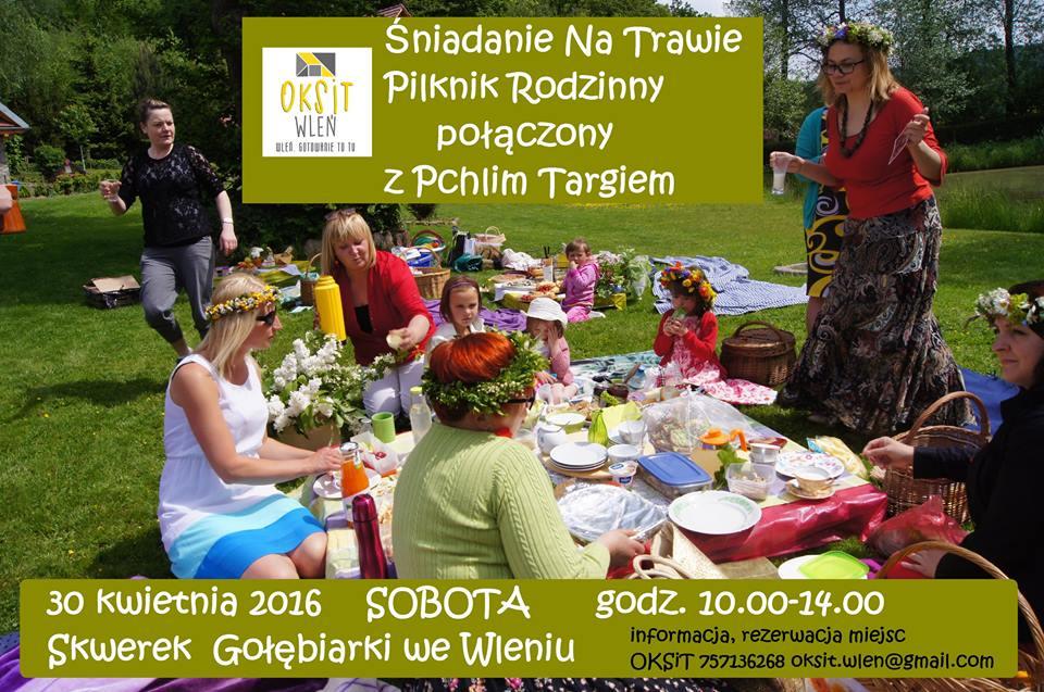 Plakat zapraszający na Śniadanie na Trawie (link otworzy duże zdjęcie)