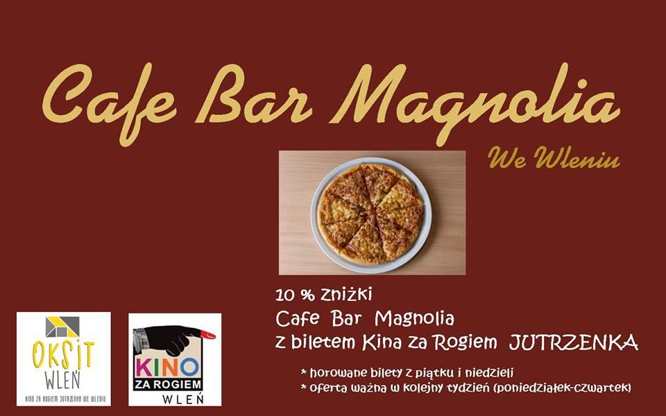 Cafe Magnolia we Wleniu - plakat zachęcający do odwiedzin lokalu (link otworzy duże zdjęcie)