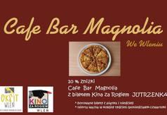 Cafe Magnolia we Wleniu - plakat zachęcający do odwiedzin lokalu