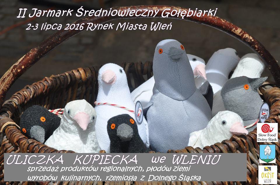 Plakat zapraszający Wystawców do wzięcia udziału w II Jarmarku Średniowiecznym we Wleniu (link otworzy duże zdjęcie)