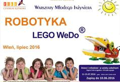 Plakat zapraszający do wzięcia udziału w Warsztatach Młodego Inżyniera