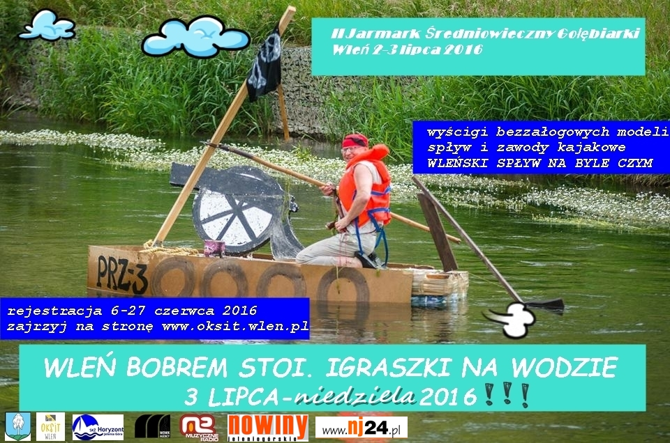 Plakat: Wleń Bobrem stoi - igraszki na wodzie (link otworzy duże zdjęcie)