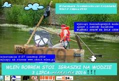 Plakat: Wleń Bobrem stoi - igraszki na wodzie