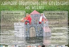 Plakat: Program Drugiego Jarmarku Średniowiecznego, 2-3 lipiec 2016