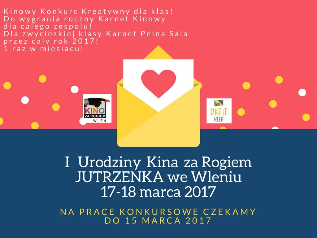 plakat z opisem konkursu dla dzieci z okazji I Urodzin kzr JUTRZENKA we Wleniu (link otworzy duże zdjęcie)