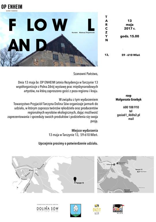 plakat zachęcający do współpracy FLOW LAND (link otworzy duże zdjęcie)