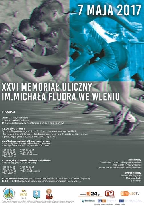 Plakat Memoriał Uliczny im. Michała Fludra we Wleniu 2017 (link otworzy duże zdjęcie)