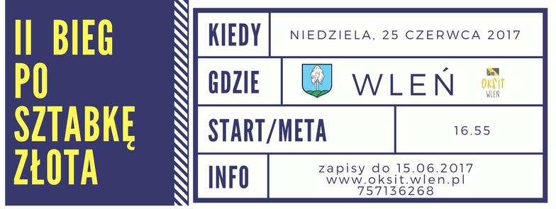 Plakat zachęca do rejestracji na II Bieg po Sztabkę Złota (link otworzy duże zdjęcie)